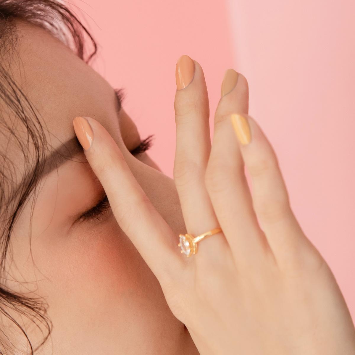 玩美持色指甲油-LJ098 蕾絲煙圈